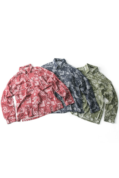 Linen Paisley Shirts - 3color