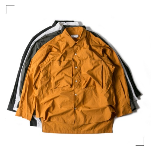 Double Pocket Over Shirts - 4color [ RE ]