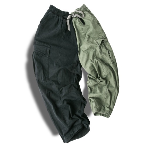 Straight Cargo Balloon Pants - 2color