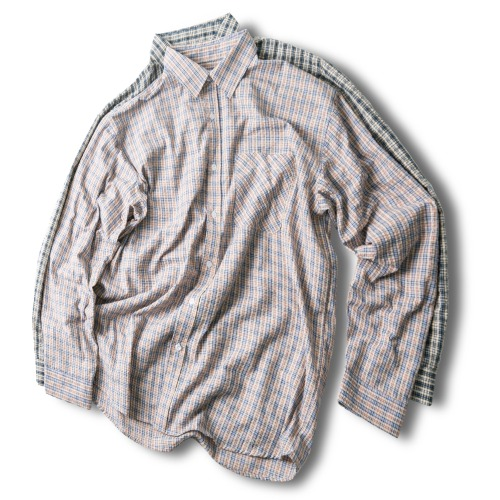 Two Tone Check Shirts - 2color