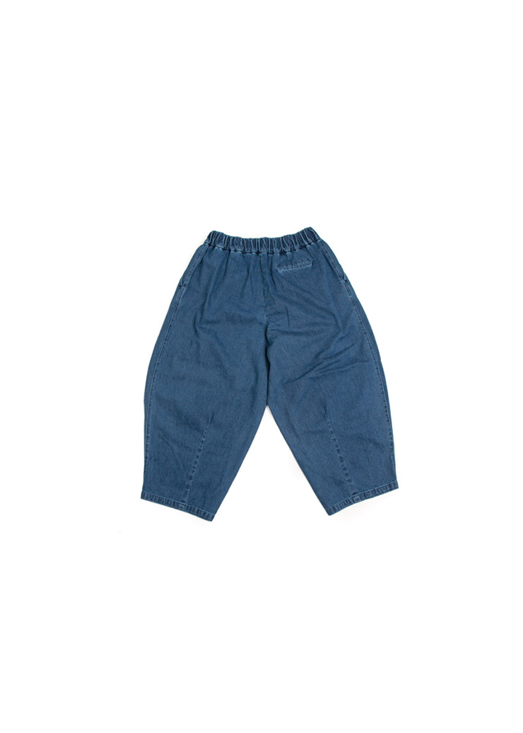 [U] Denim Balloon Pants - Dark Blue