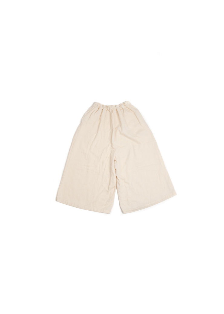 [W] Wide Skirt Pants - Ivory