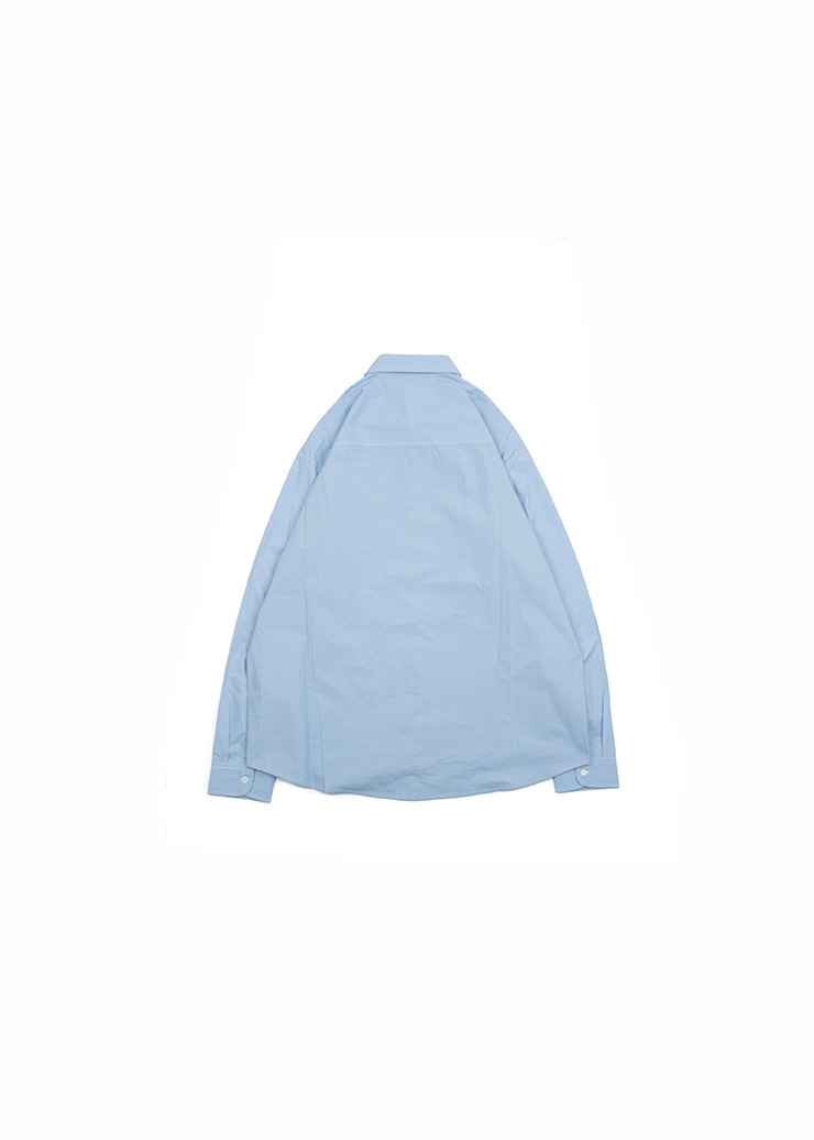 [U] Basic Cotton Shirts - Sky Blue