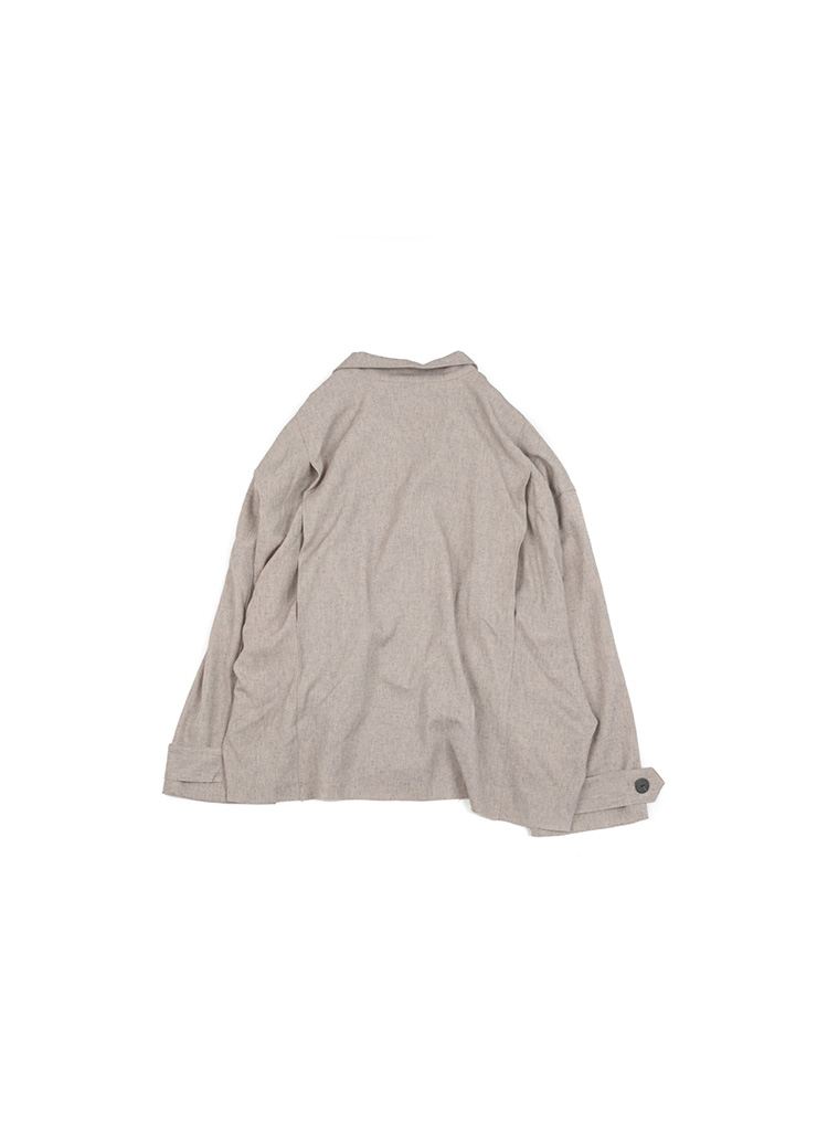 [U] Cutting Double Jacket - Oatmeal [ RE ]