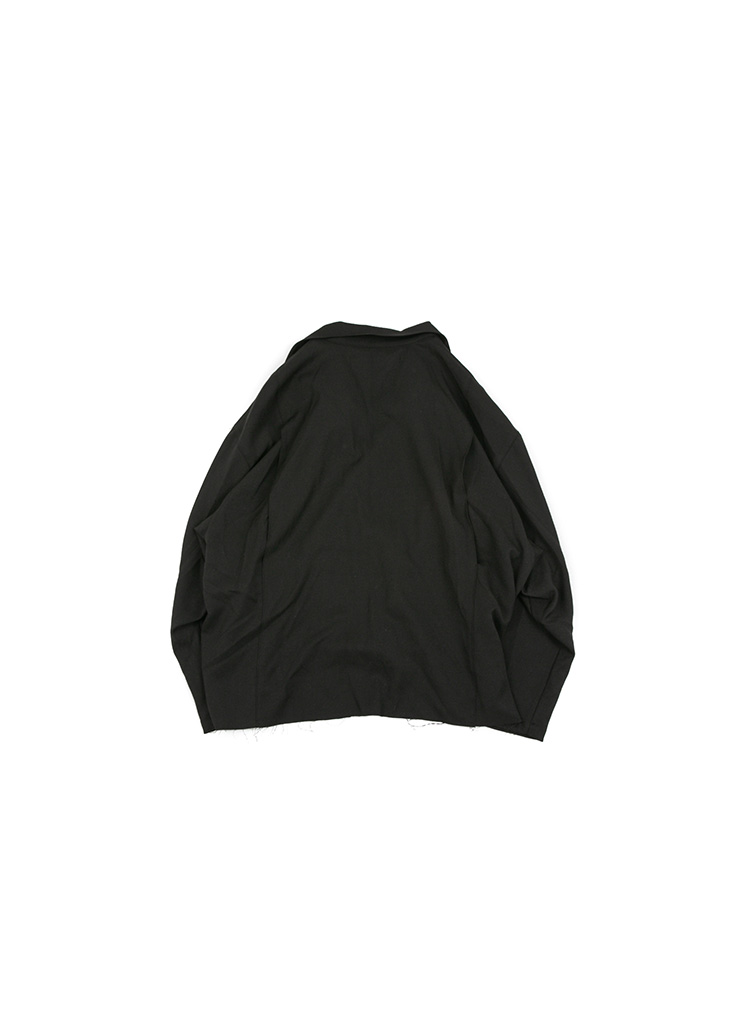 [U] Cutting Double Jacket - Black [ RE ]