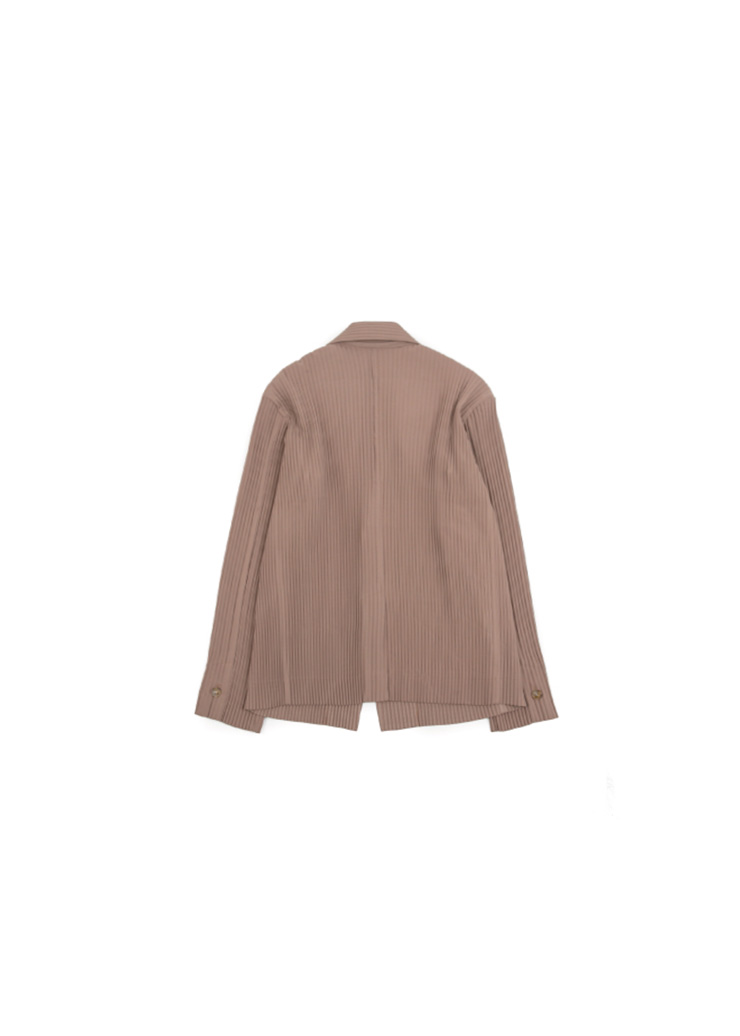 [U] Pleats Two Button Jacket - Beige