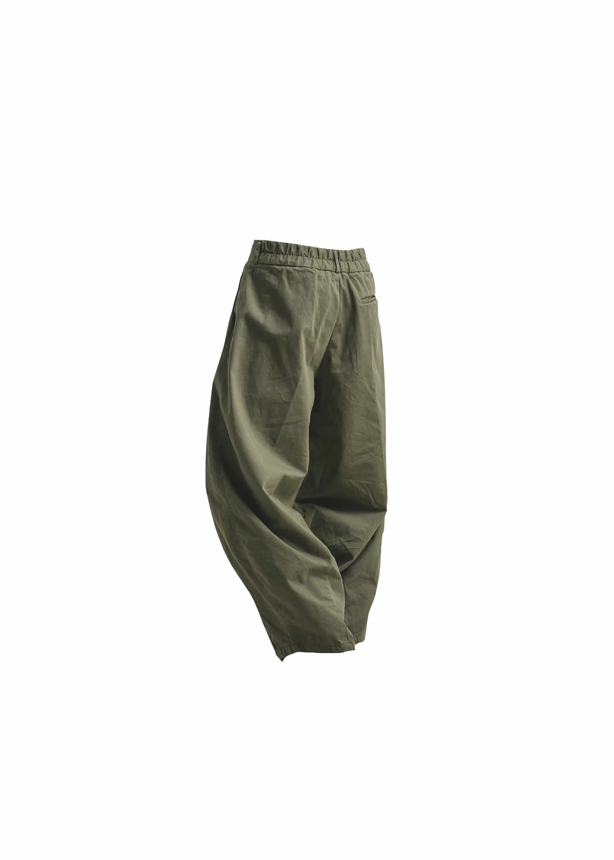[AG] Cotton Easy Balloon Pants - Khaki
