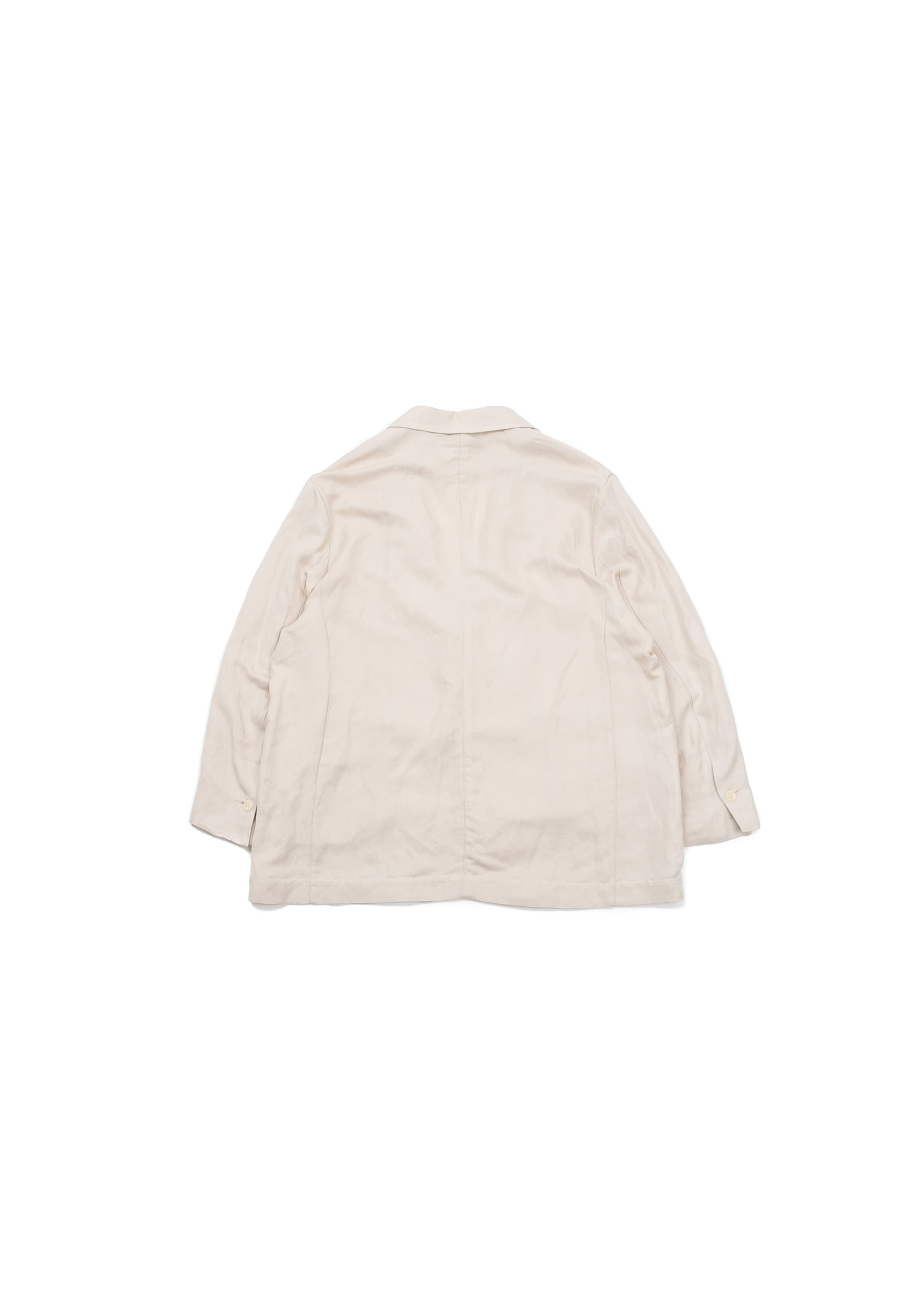 Linen Wide Jacket - Beige
