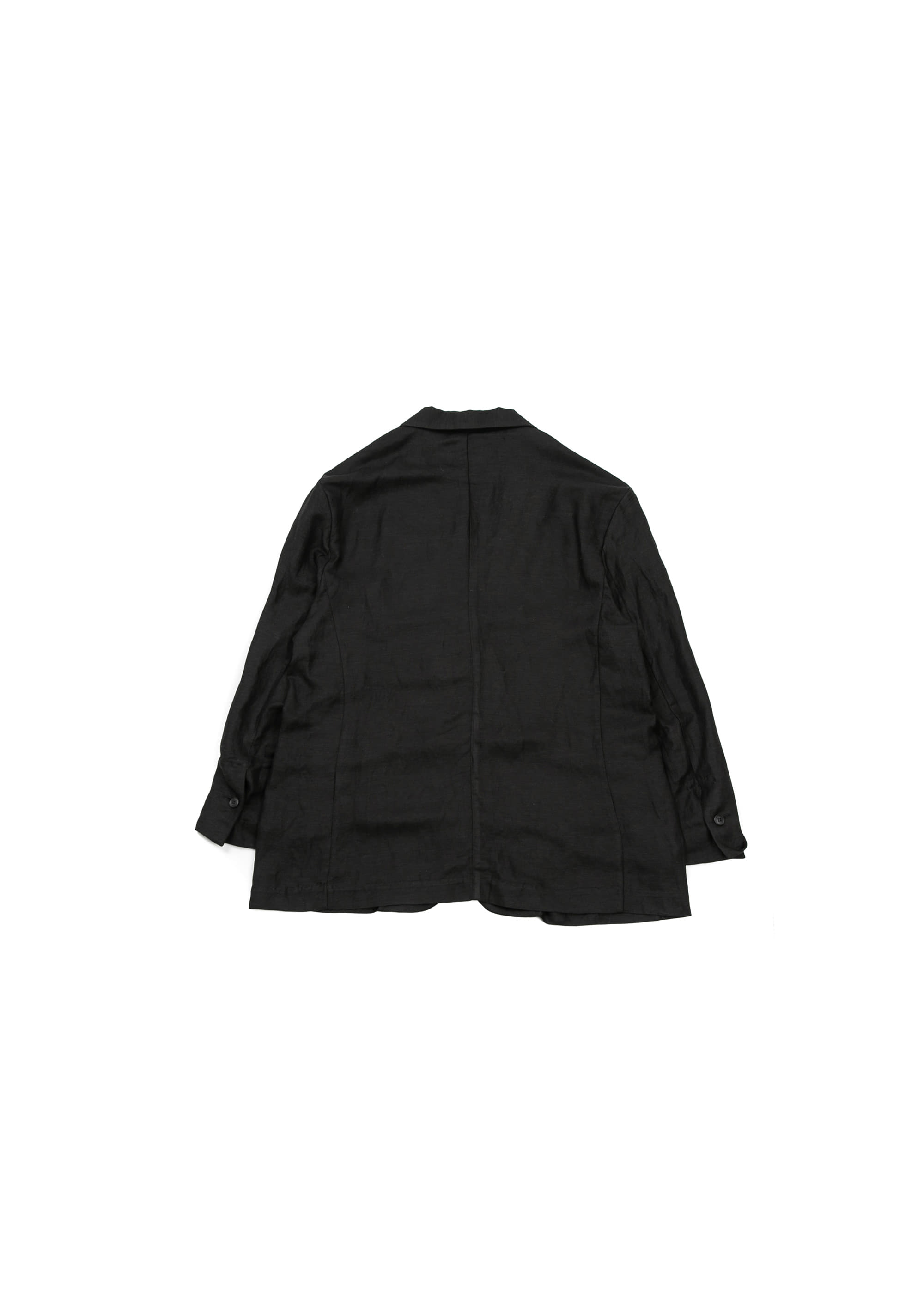 Linen Wide Jacket - Black