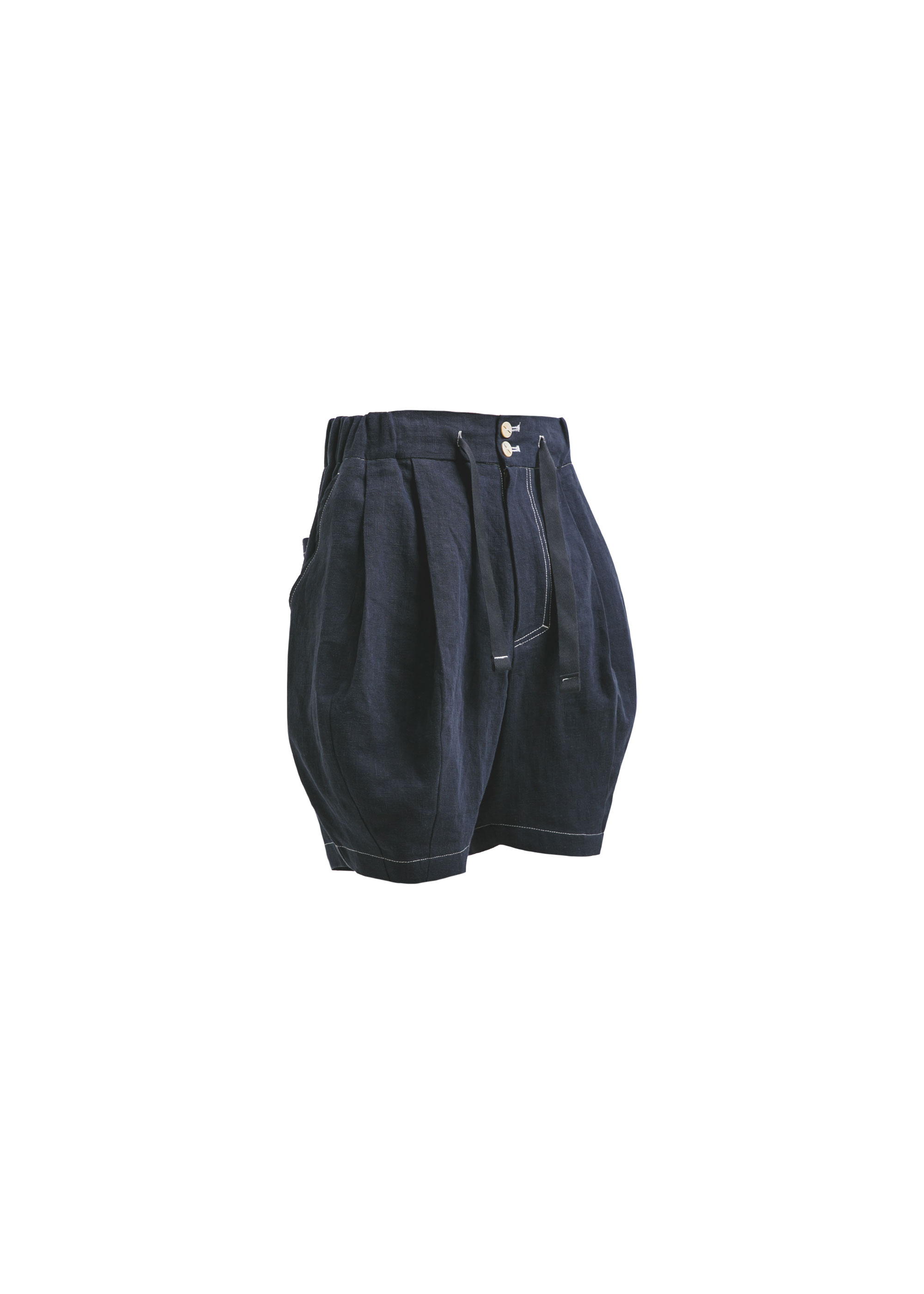 [AG] Linen Balloon Shorts - Navy