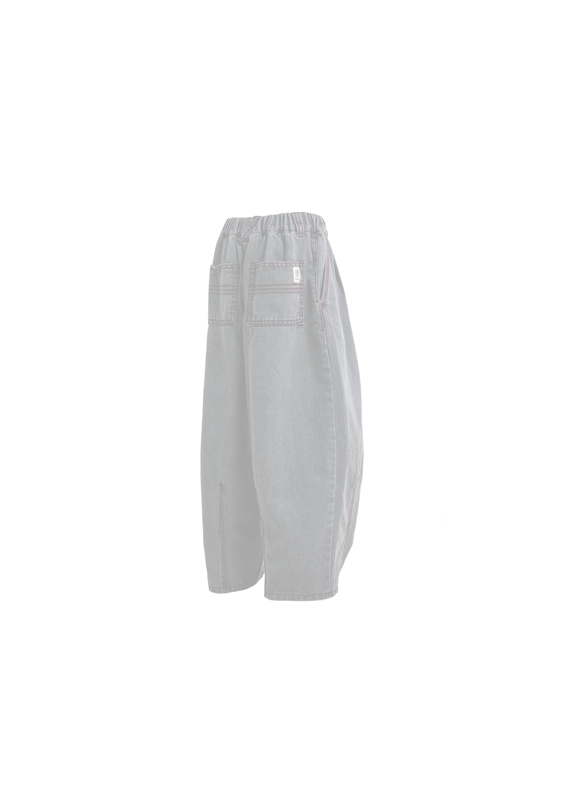[AG] Big Stitch Denim Balloon Pants - Grey