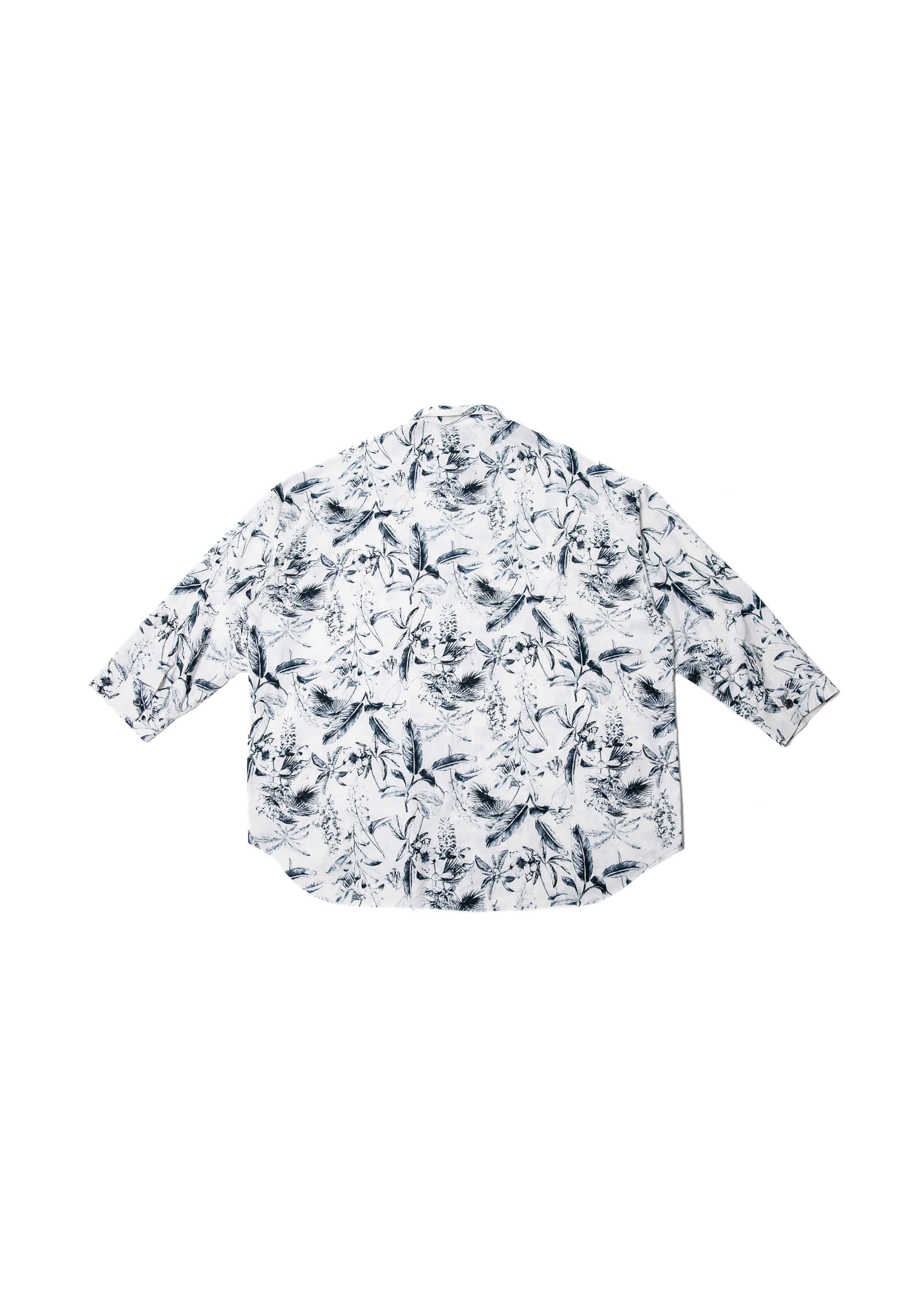 Flower Cutting Over Shirts - White