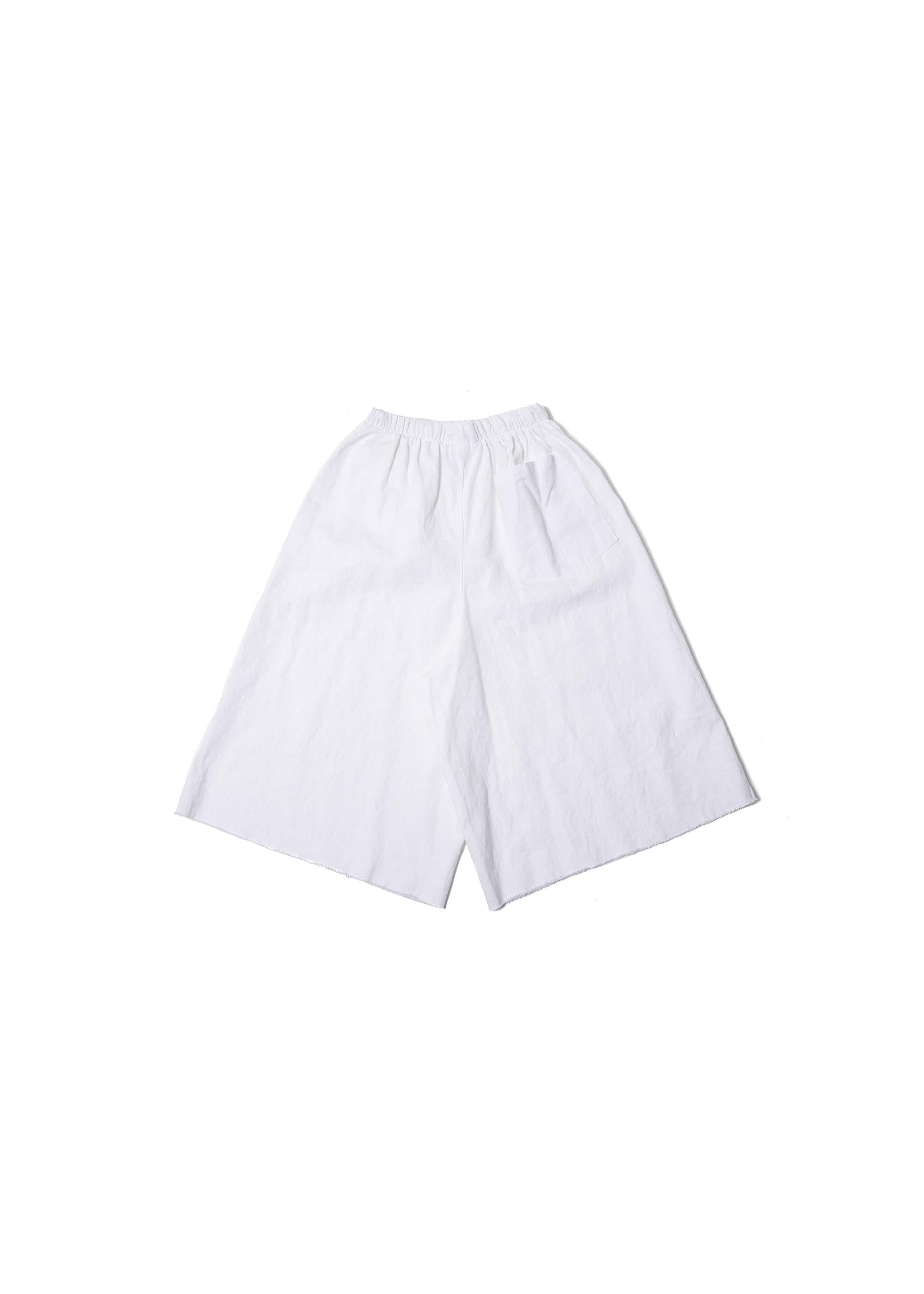 Linen Cutting Wide Pants - White