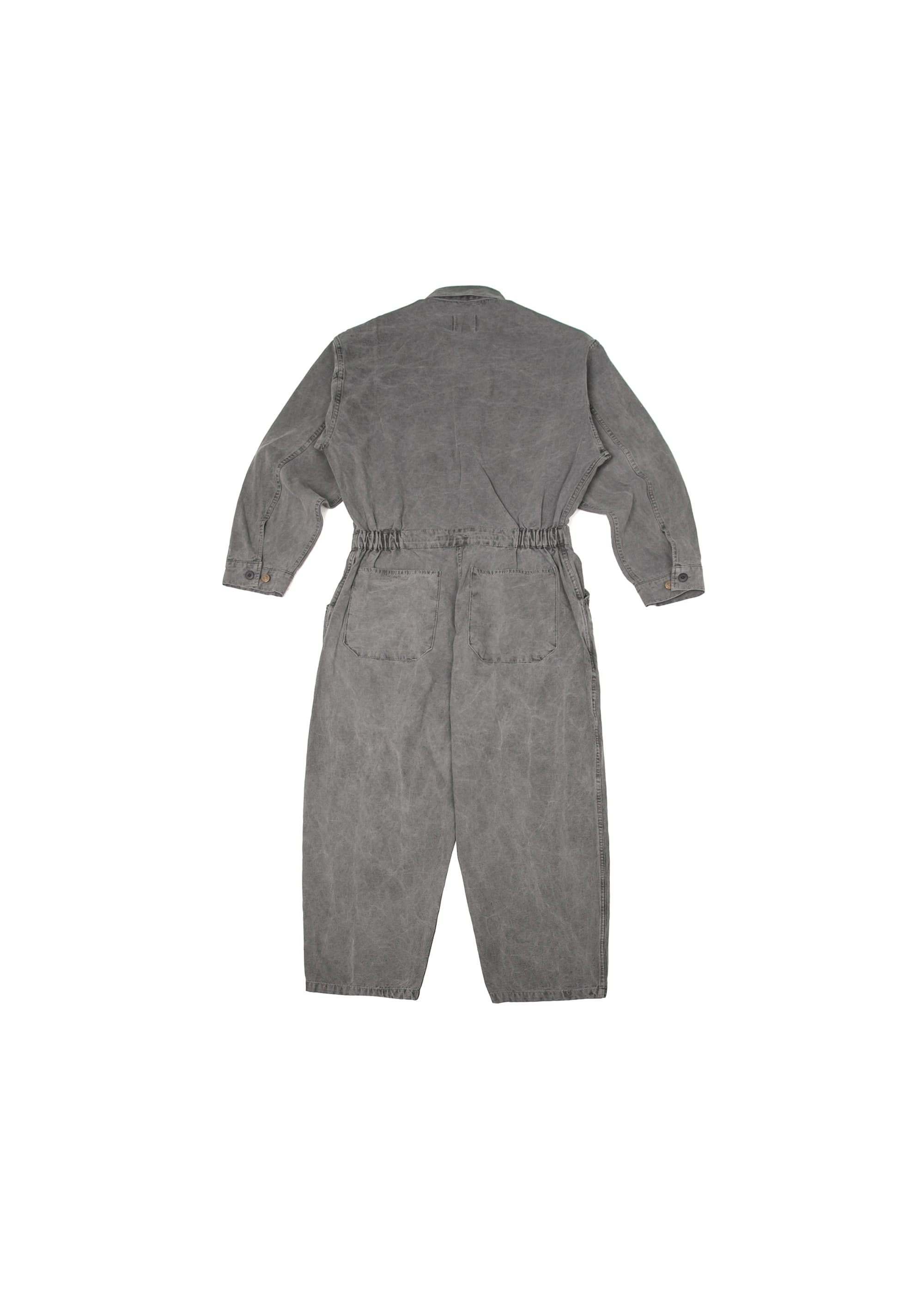 Pigment Pocket Jump Suit - Charcoal