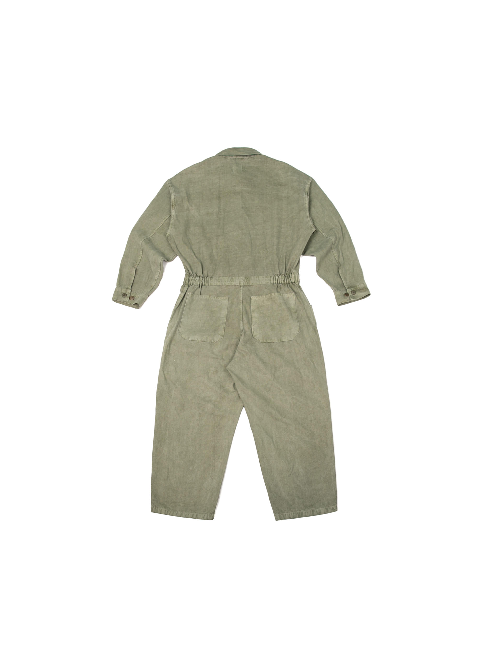 Pigment Pocket Jump Suit - Khaki