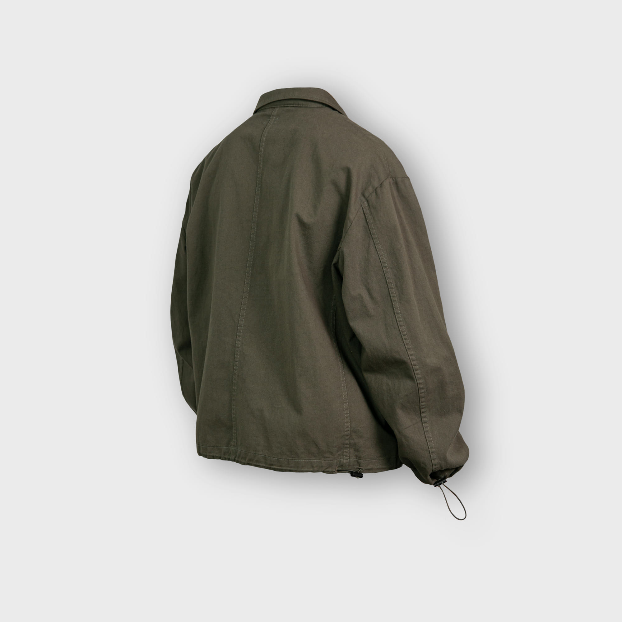 [AG] Twill Cotton String Shirt Jacket - Khaki