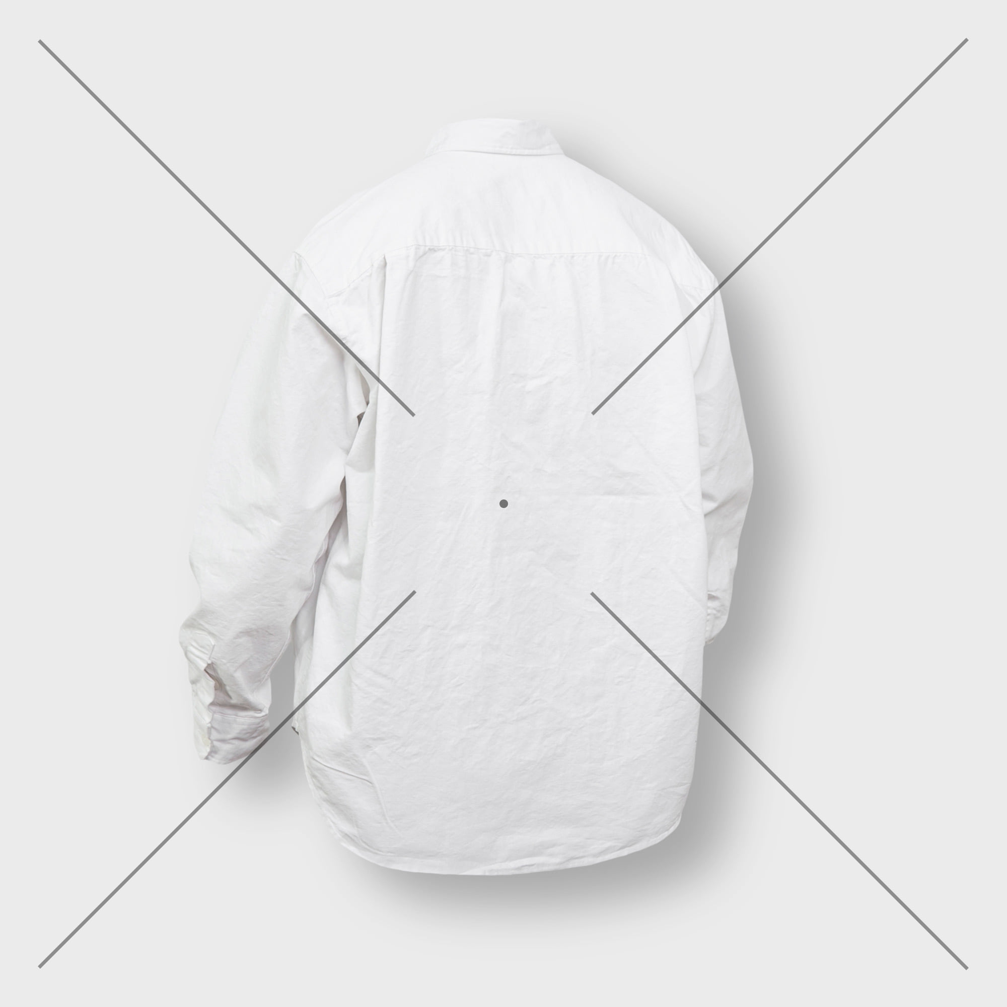 [AG] Oxford Wide Over Shirt - White
