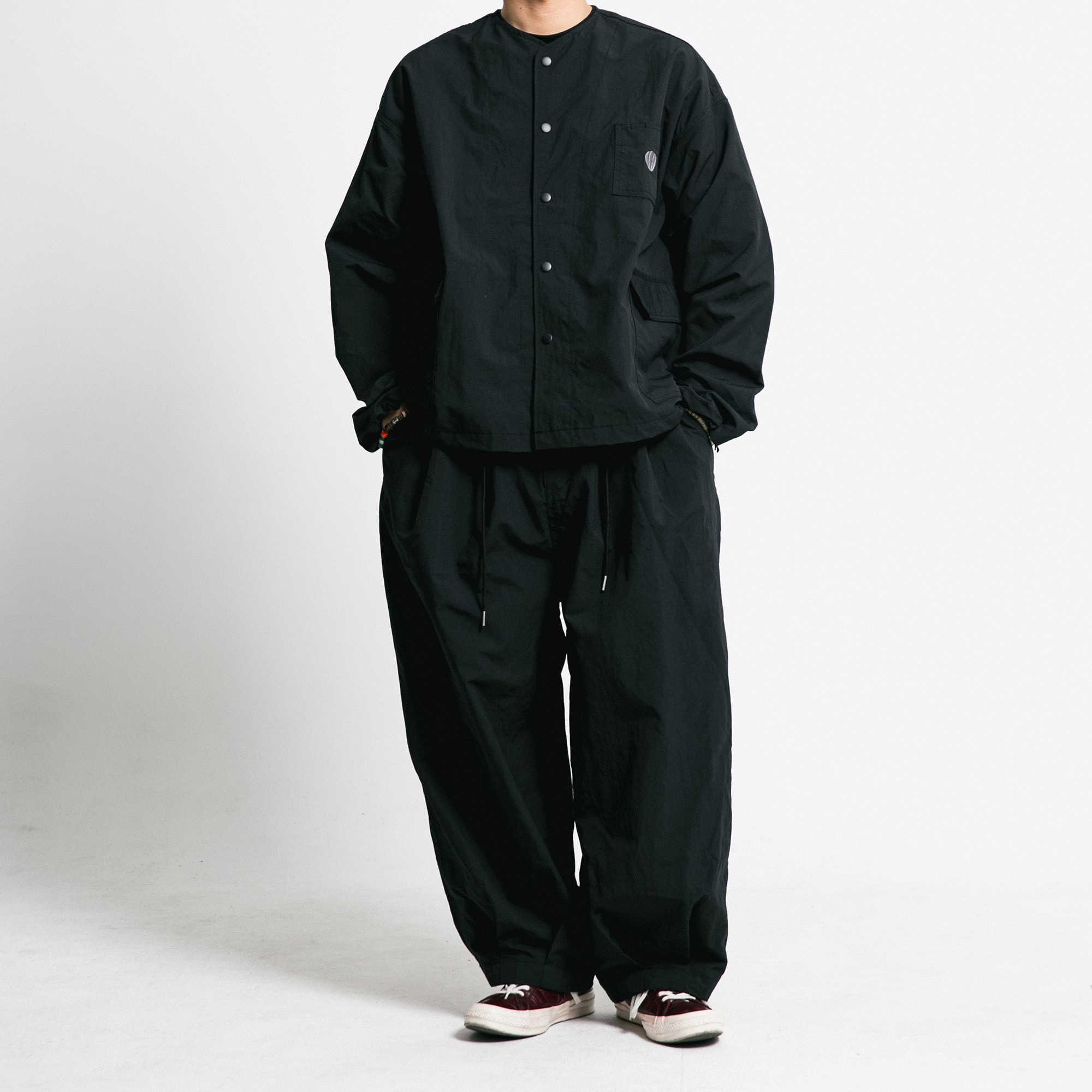[AG] Rib Nylon Public Set up - Black