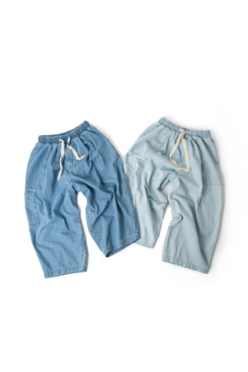 Denim Fatigue Jungle Pants - 2color