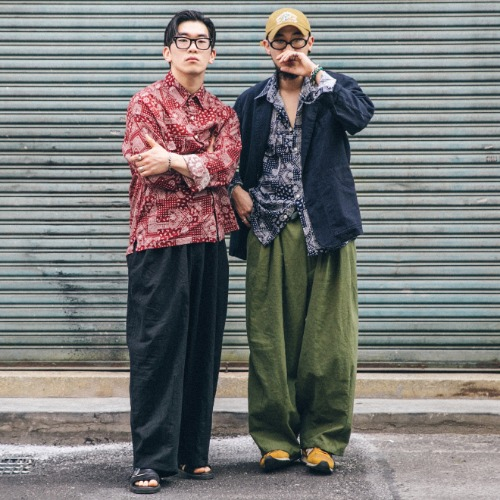Linen Paisley Shirts & Linen Balloon Pants