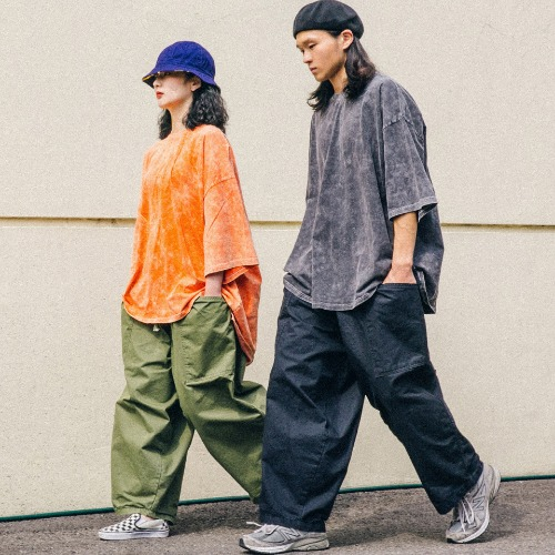 Snow Over Washing Tee & Jungle Pants - 2color