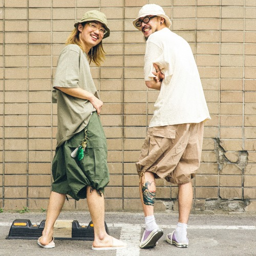 Daruma Tee - 2color & Half Cago Balloon Pants - 3color