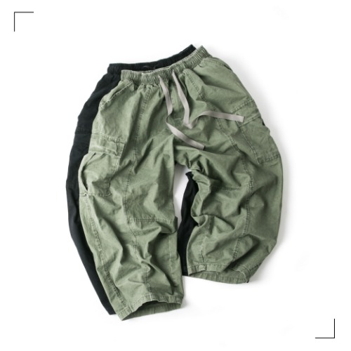 Straight Cargo Balloon Pants - 2color [ RE ]