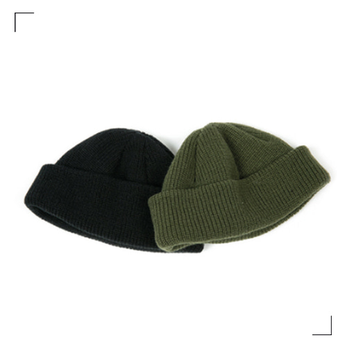 Knit Short Beanie - 2color