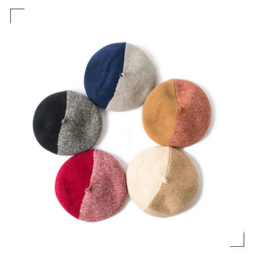 Wool Half Beret - 5color [ RE ]