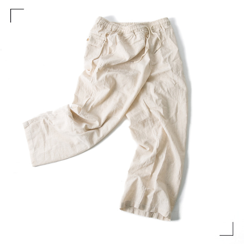 Linen Pin Fatigue Pants