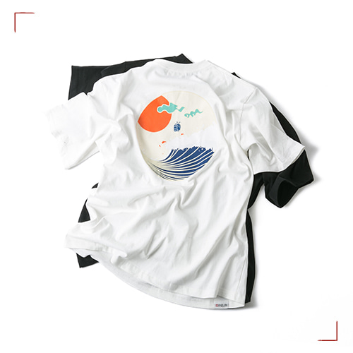 Round Wave Tee - 2color