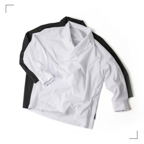 Double Collar Shirts - 2color [ RE ]