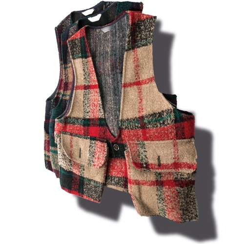 Tartan Pocket Vest - 3color