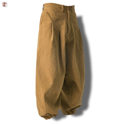 EASY BALLOON PANTS - Brown