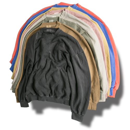 Pigment Washing Sweat Shirts - 8color