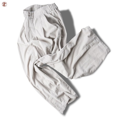 Corduroy Easy Balloon Pants - Ivory