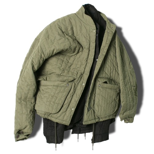 Quilting Cargo Field Jacket - 2color