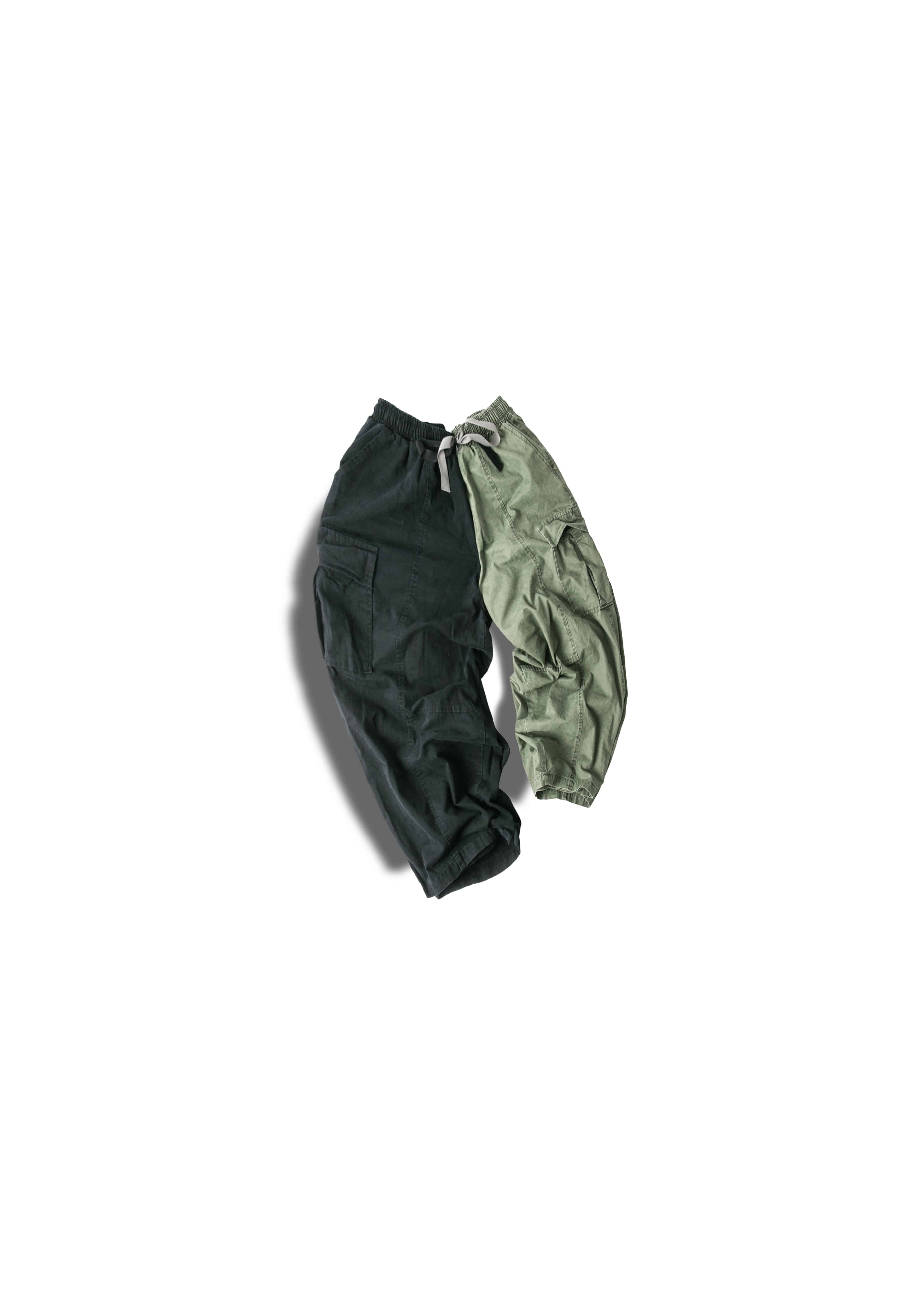 [U] Straight Cargo Balloon Pants - 2color