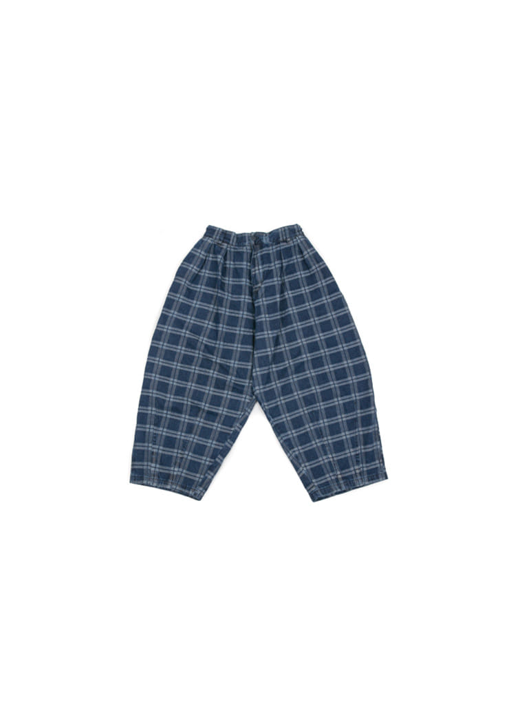 [U] Indigo Check Balloon Pants [ RE ]