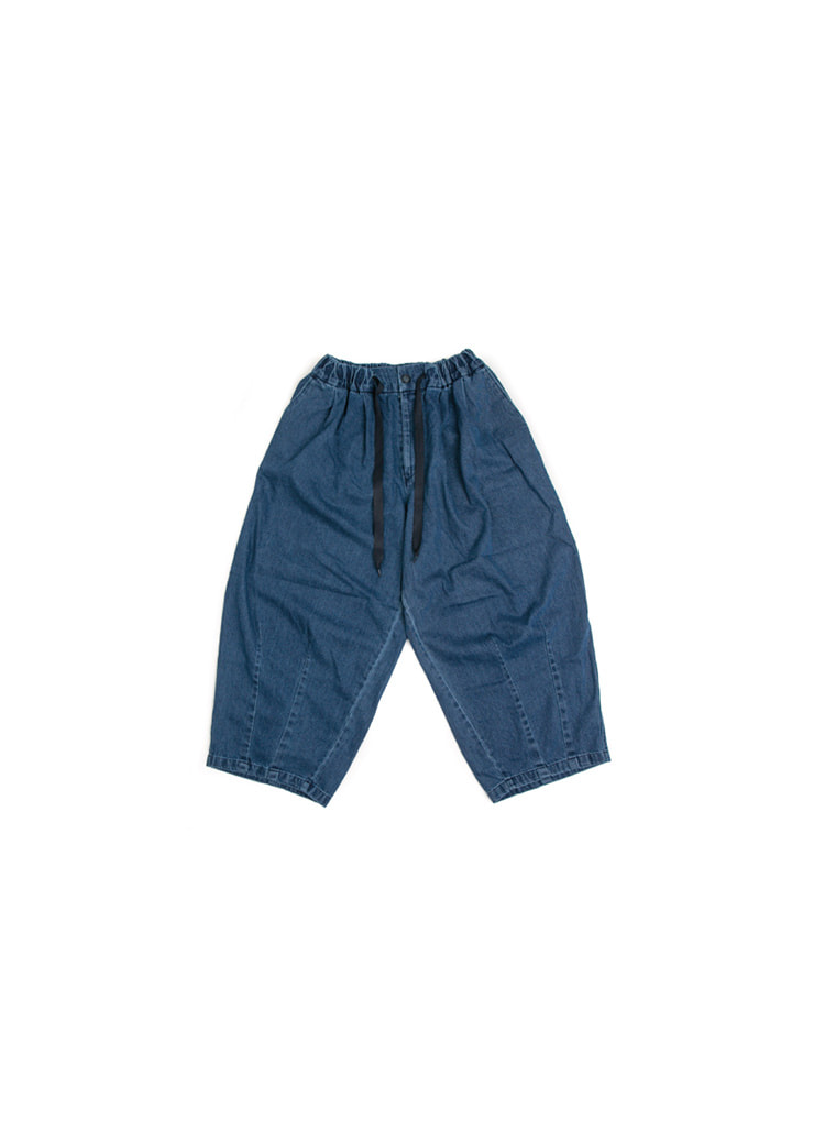 Denim Balloon Pants - Dark Blue