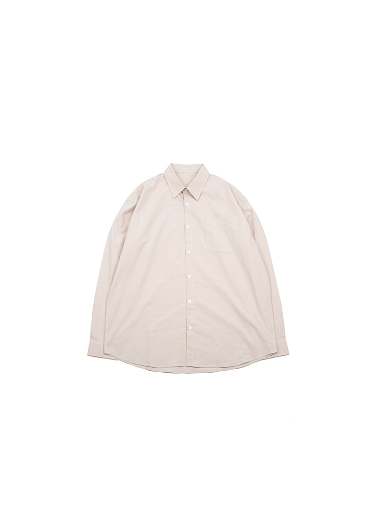 [U] Basic Cotton Shirts - Beige