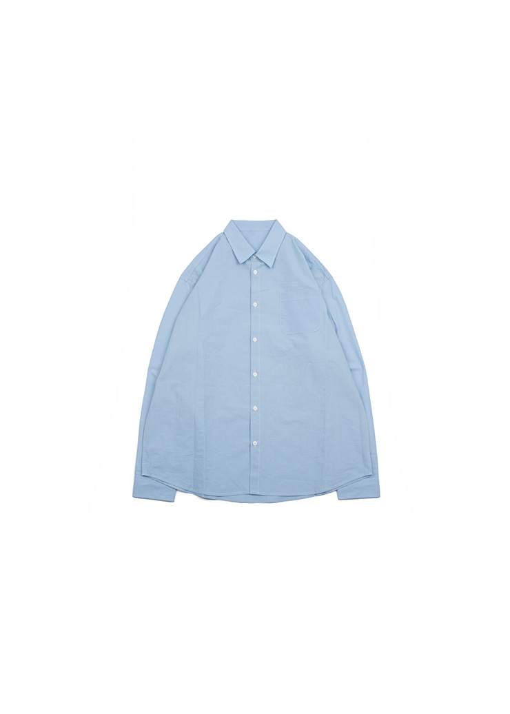 Basic Cotton Shirts - Sky Blue
