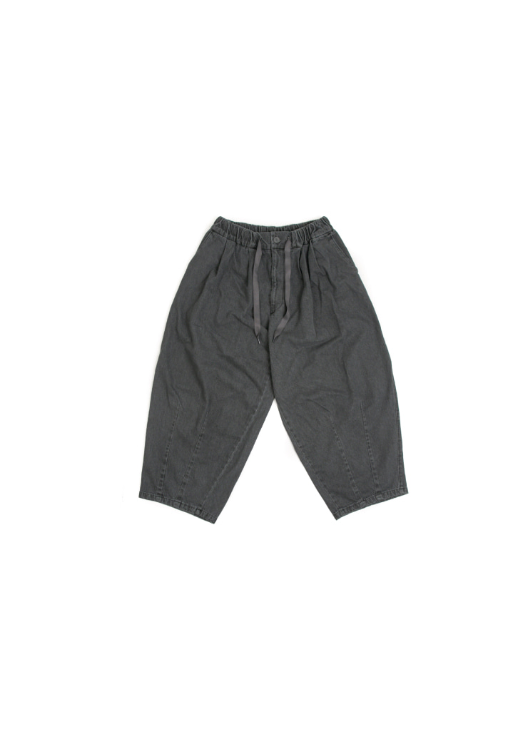 Denim Balloon Pants - Grey