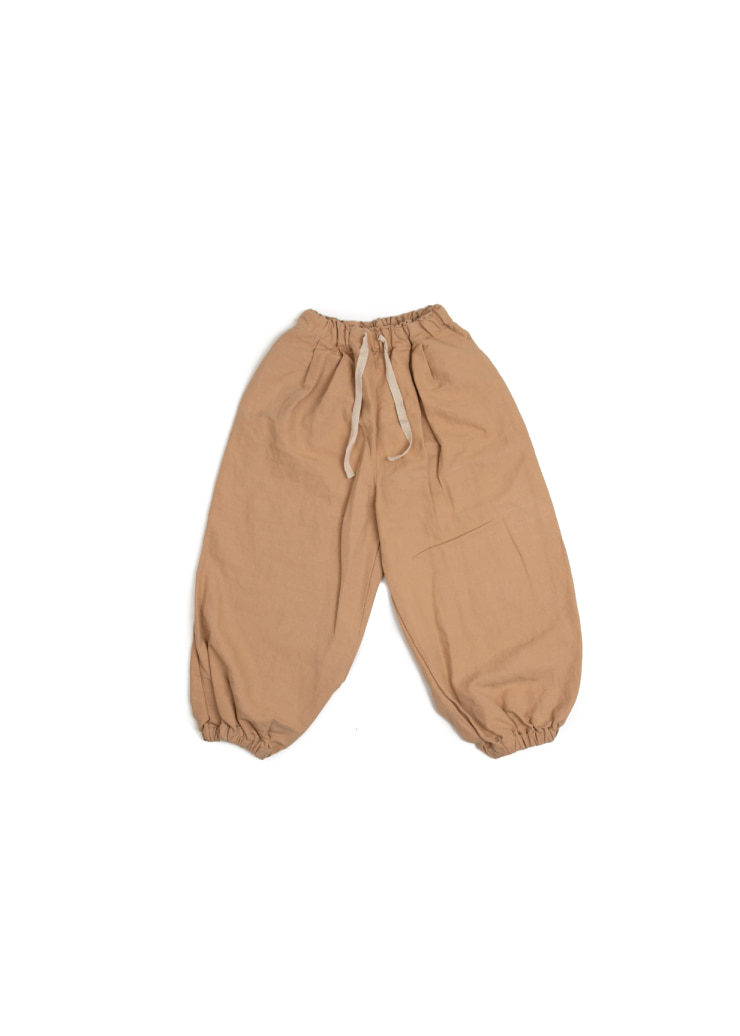 [W] Jogger Strap Pants - Brown