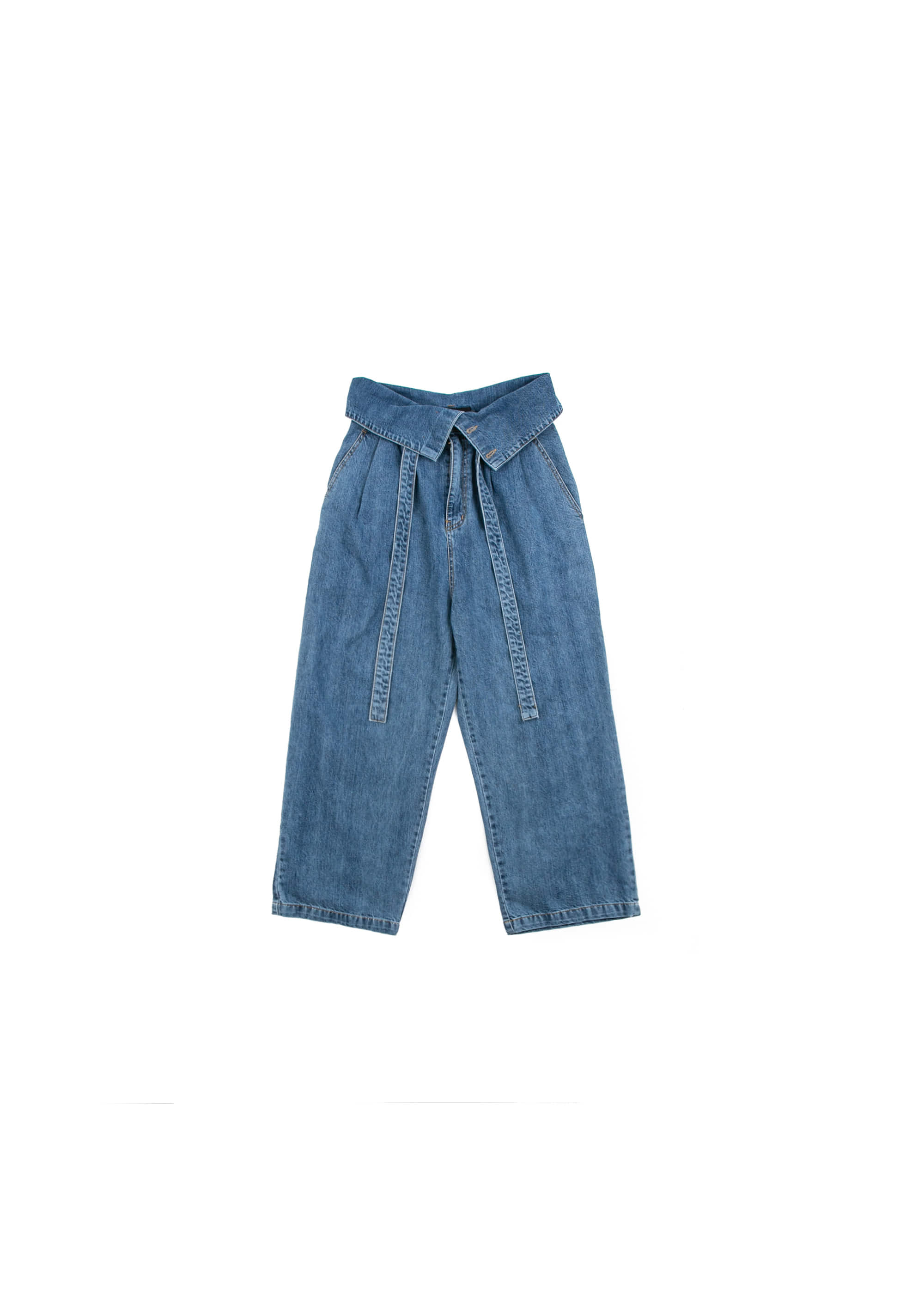 Over Fold Denim Pants