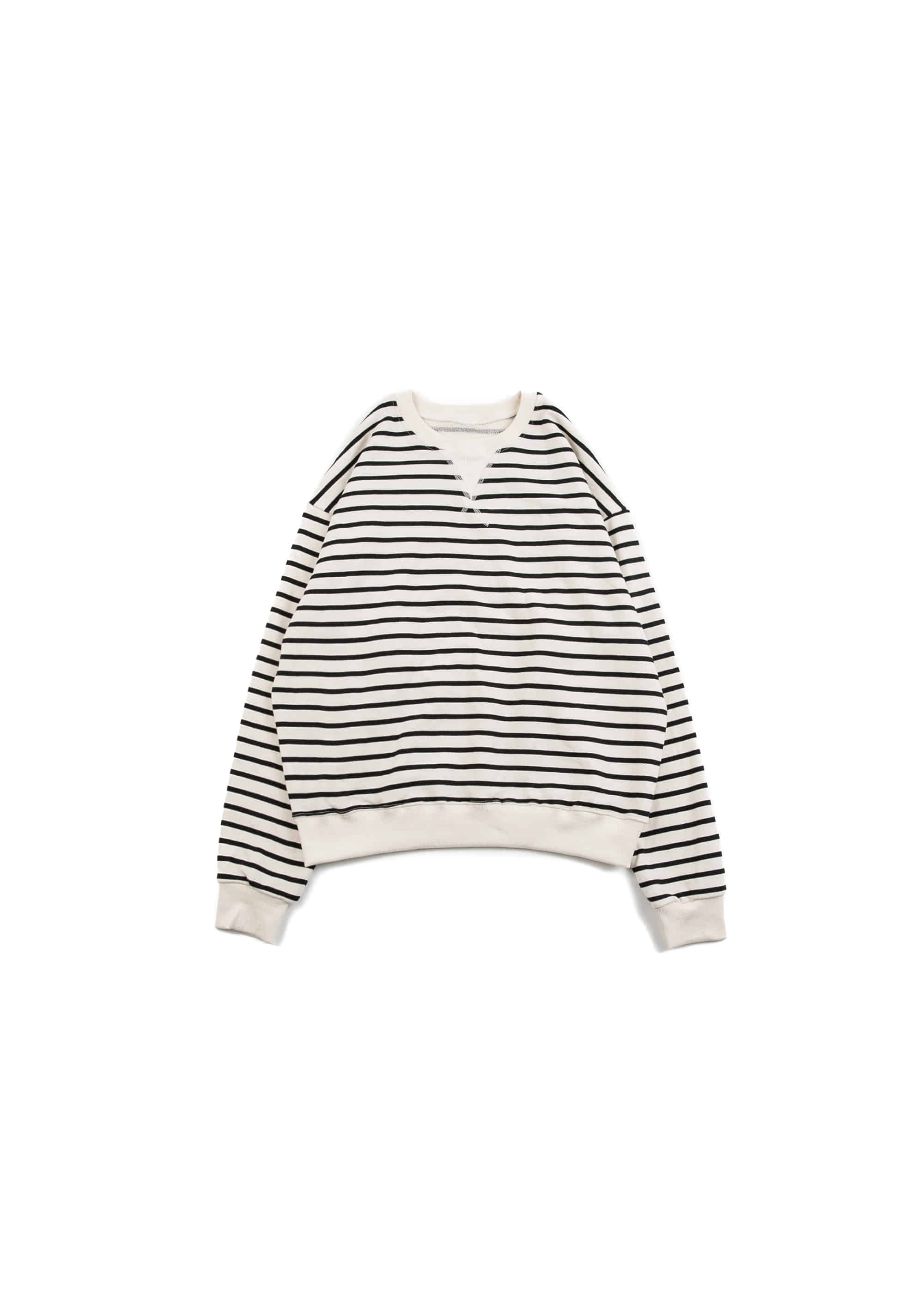 Stripe Garments Sweat Shirts - Ivory