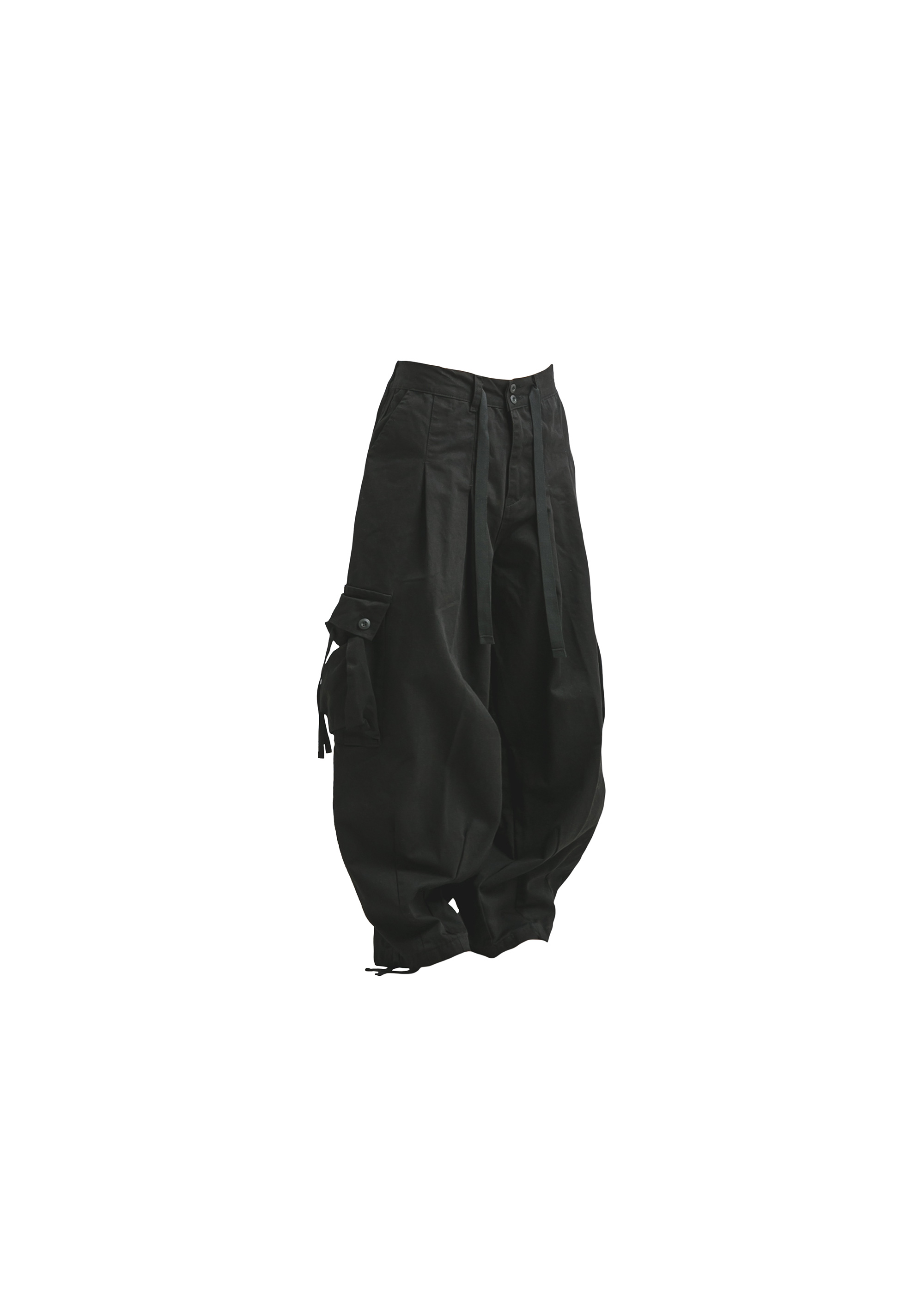 [AG] Cargo Easy Balloon Pants - Black