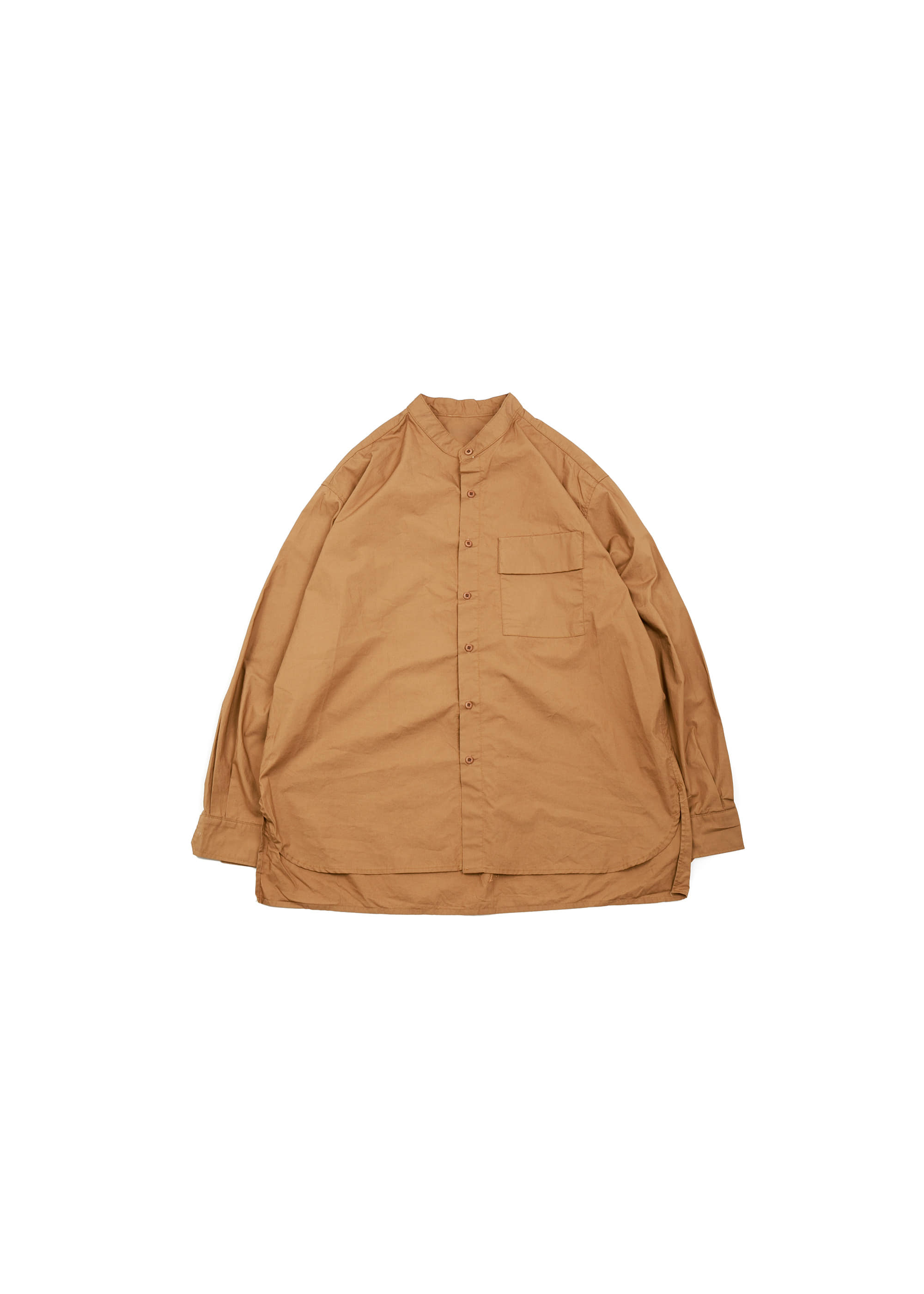 Henley Neck Over Shirts - Brick