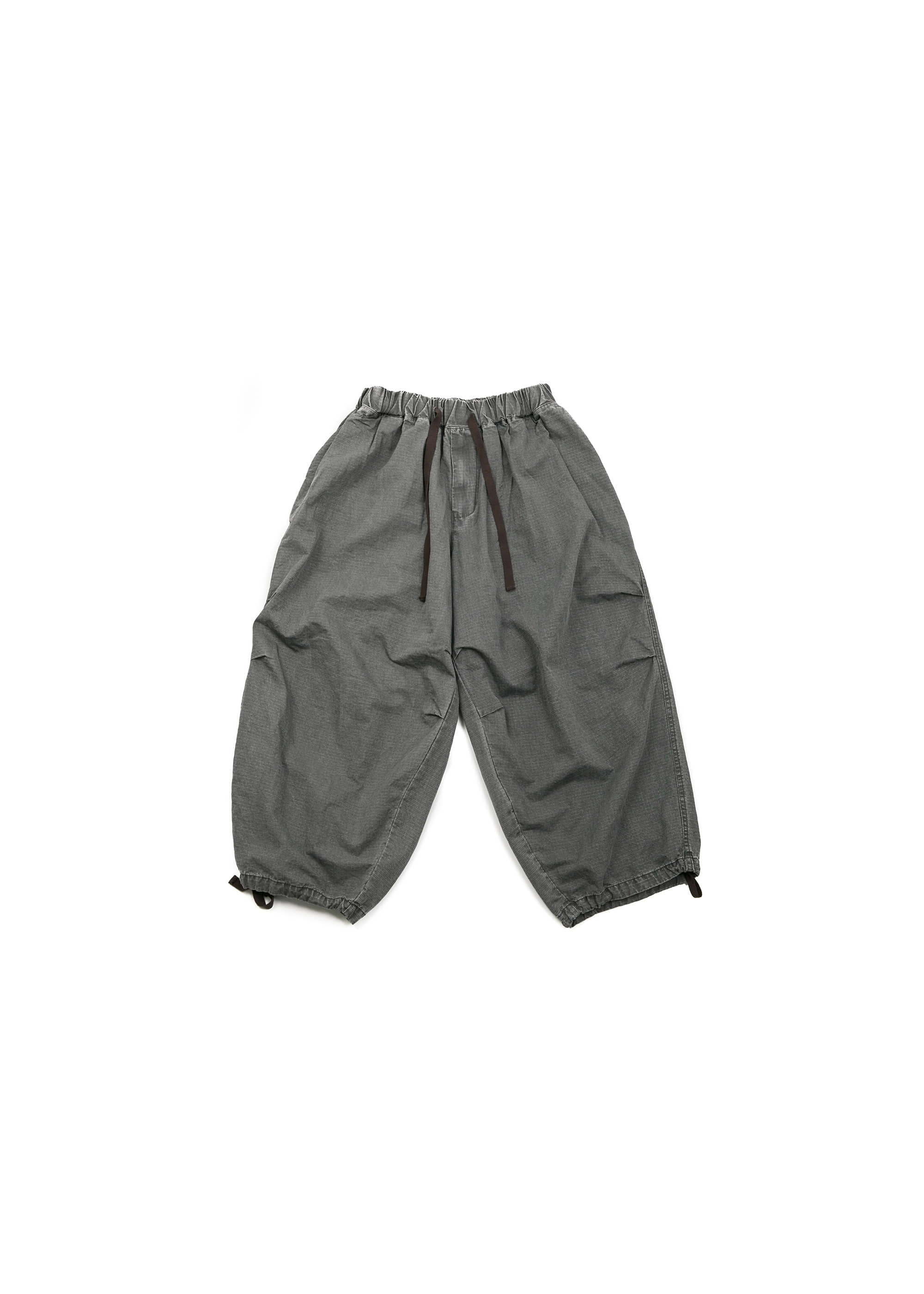 Rib Army Balloon Pants - Grey