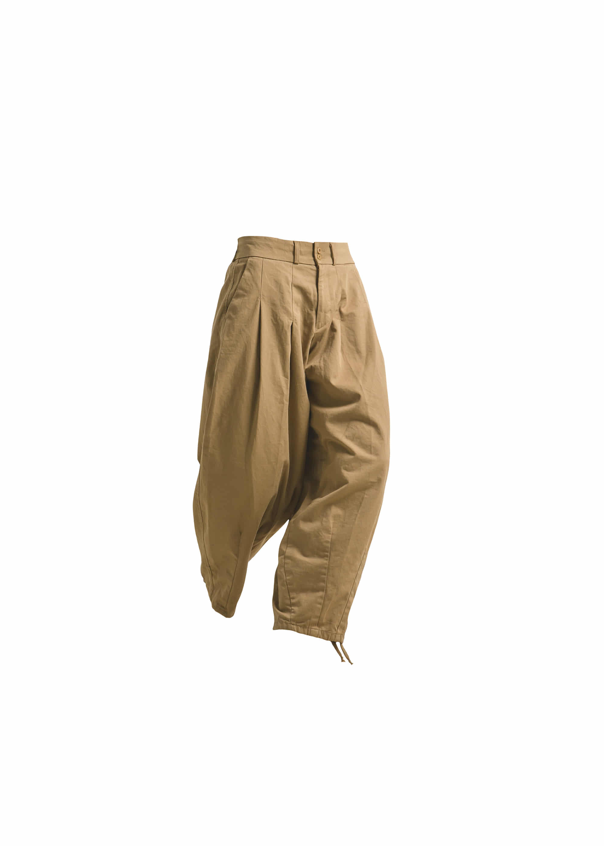 [AG] Cotton Easy Balloon Pants - Beige [Pre-Order]